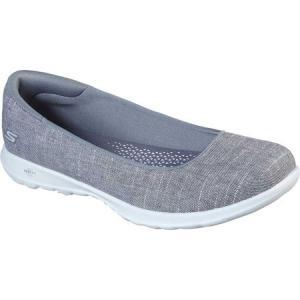 スケッチャーズ Skechers レディース スリッポン・フラット バレエシューズ シューズ・靴 gowalk lite susie ballet flat Gray|fermart-shoes
