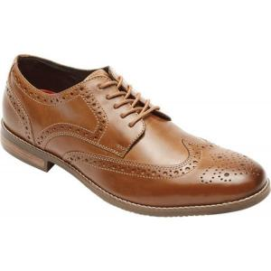 ロックポート Rockport メンズ シューズ・靴 ビジネスシューズ Style Purpose Wing Tip Oxford Tan Full Grain Leather fermart-shoes