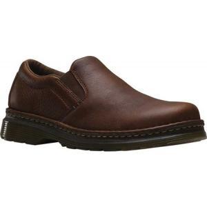 ドクターマーチン Dr. Martens メンズ スリッポン・フラット シューズ・靴 Boyle Slip On Shoe Dark Brown Grizzly|fermart-shoes