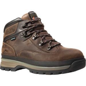 ティンバーランド レディース ブーツ シューズ・靴 Euro Hiker Alloy Toe Work Boot Brown Full Grain Leather fermart-shoes