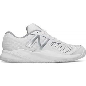 ニューバランス レディース シューズ・靴 テニス 696v3 Tennis Shoe White/Silver|fermart-shoes