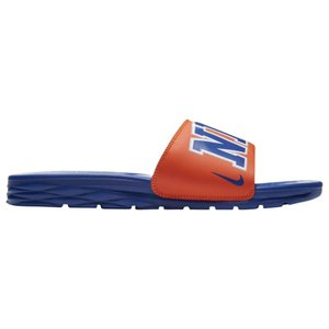 ナイキ メンズ サンダル シューズ・靴 Nike Benassi Solarsoft NBA Slide Brilliant Orange/Rush Blue/Silver|fermart-shoes