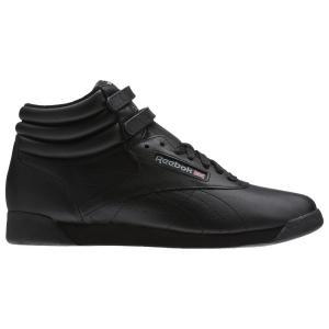 リーボック レディース スニーカー シューズ・靴 Freestyle Hi Black/Black/Black fermart-shoes