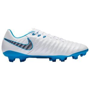 ナイキ メンズ シューズ・靴 サッカー Tiempo Legend 7 Pro FG White/Chrome/Blue Hero|fermart-shoes