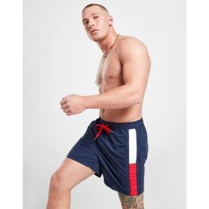 トミー ヒルフィガー Tommy Hilfiger メンズ 海パン ショートパンツ 水着・ビーチウェア Flag Leg Swim Shorts blue|fermart-shoes