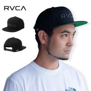 【即納】ルーカ RVCA メンズ キャップ 帽子 Rvca Twill Snapback BLACK/CHARCOAL スナップバック ロゴ|fermart-shoes