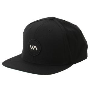 【即納】ルーカ RVCA メンズ キャップ 帽子 Va Patch Snapback BLACK スナップバック ロゴ|fermart-shoes