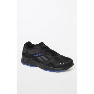 リーボック Reebok メンズ スニーカー シューズ・靴 Black & Blue Aztrek Shoes BLACK|fermart2-store