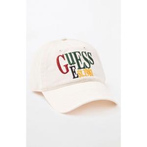 ゲス Guess メンズ キャップ 帽子 1981 Strapback Dad Hat OFF WHITE|fermart2-store