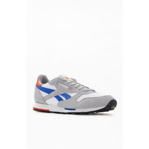 リーボック Reebok メンズ スニーカー シューズ・靴 White & Grey Classic Leather Shoes WHITE/GREY|fermart2-store