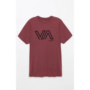 ルーカ RVCA メンズ Tシャツ トップス Stencil VA T-Shirt MAROON fermart2-store