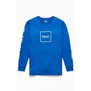 ハフ HUF メンズ 長袖Tシャツ トップス Domestic Long Sleeve T-Shirt BLUE|fermart2-store