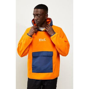 ハフ HUF メンズ フリース トップス Domestic Pullover Fleece NAVY/ORANGE|fermart2-store