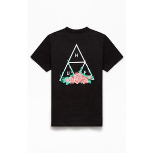 ハフ HUF メンズ Tシャツ トップス City Rose Triangle T-Shirt BLACK|fermart2-store