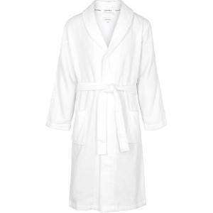 カルバンクライン Calvin Klein メンズ ガウン・バスローブ インナー・下着 white terrycloth robe White fermart2-store
