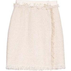 ランバン Lanvin レディース ひざ丈スカート スカート Frayed cotton-blend tweed skirt Tonal-ivory|fermart2-store