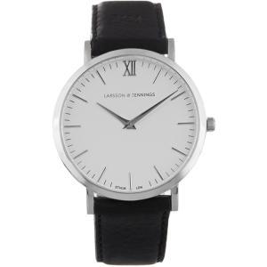 ラーソン アンド ジェニングス メンズ 腕時計 Lugano stainless-steel and leather watch Polished 316L stainless-steel 40mm case|fermart2-store