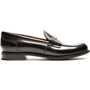 チャーチ レディース ローファー・オックスフォード シューズ・靴 Pembrey leather penny loafers Black|fermart2-store