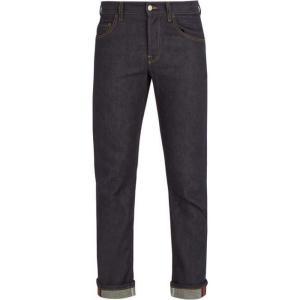 グッチ メンズ ジーンズ・デニム ボトムス・パンツ Mid-rise straight-leg denim jeans Deep indigo-blue|fermart2-store