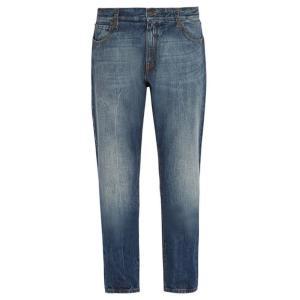 モンクレール 7 Moncler Fragment メンズ ジーンズ・デニム ボトムス・パンツ Slim-fit denim jeans Mid blue|fermart2-store