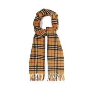 バーバリー Burberry メンズ マフラー・スカーフ・ストール Vintage-check cashmere scarf Tan|fermart2-store