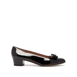 サルヴァトーレ フェラガモ Salvatore Ferragamo レディース パンプス シューズ・靴 Vara black patent-leather pumps Black|fermart2-store