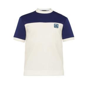 プラダ Prada メンズ Tシャツ トップス Logo buttoned T-shirt White fermart2-store