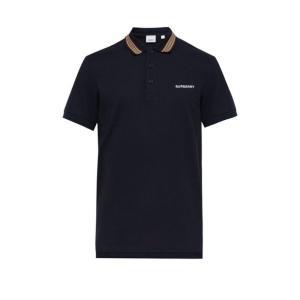 バーバリー Burberry メンズ ポロシャツ トップス Icon-stripe cotton p...