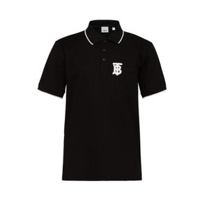 バーバリー Burberry メンズ ポロシャツ トップス TB monogram-embroide...