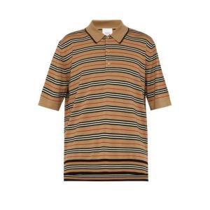 バーバリー Burberry メンズ ポロシャツ トップス heritage-striped woo...