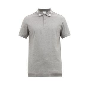 バーバリー Burberry メンズ ポロシャツ トップス Ryland logo-jacquard...