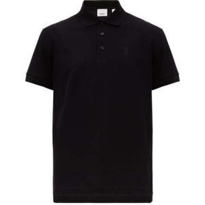 バーバリー Burberry メンズ ポロシャツ トップス Eddie TB-logo cotton...