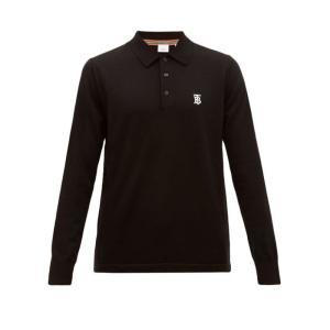 バーバリー Burberry メンズ ポロシャツ トップス Douglas logo-embroid...