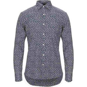 マイケル コース MICHAEL KORS MENS メンズ シャツ トップス patterned shirt Dark blue|fermart2-store