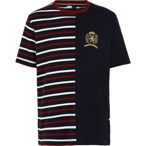 トミー ヒルフィガー HILFIGER COLLECTION メンズ Tシャツ トップス hcm spliced & crest Dark blue|fermart2-store