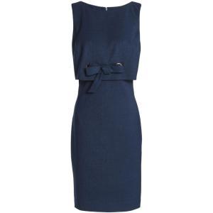 バッジェリー ミシュカ BADGLEY MISCHKA レディース ワンピース ワンピース・ドレス Layered bow-detailed woven mini dress Navy|fermart2-store