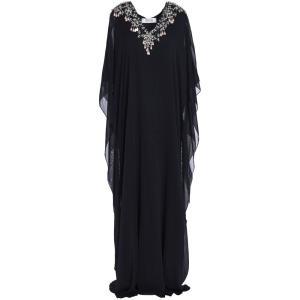 バッジェリー ミシュカ BADGLEY MISCHKA レディース パーティードレス ワンピース・ドレス Embellished silk-blend voile gown|fermart2-store