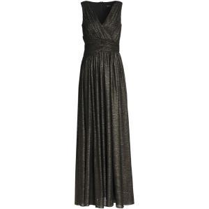 バッジェリー ミシュカ BADGLEY MISCHKA レディース パーティードレス ワンピース・ドレス Metallic gathered metallic gown Black|fermart2-store