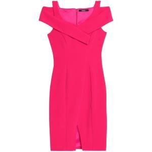 バッジェリー ミシュカ BADGLEY MISCHKA レディース ワンピース ワンピース・ドレス Cold-shoulder ponte dress Burgundy|fermart2-store