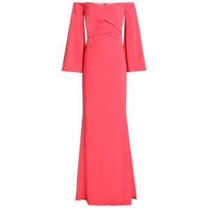 バッジェリー ミシュカ BADGLEY MISCHKA レディース パーティードレス ワンピース・ドレス Off-the-shoulder pleated crepe gown Bubblegum|fermart2-store