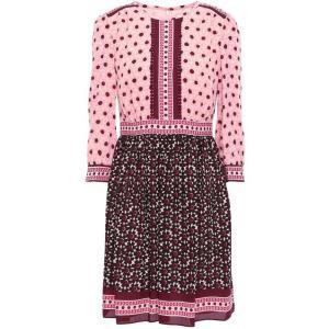 ケイト スペード KATE SPADE New York レディース ワンピース ワンピース・ドレス Lace-trimmed crepe mini dress Baby pink|fermart2-store