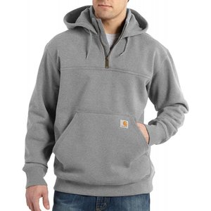 カーハート Carhartt メンズ パーカー トップス paxton heavyweight mock zip hoodie Grey|fermart2-store