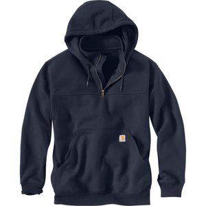カーハート Carhartt メンズ パーカー トップス paxton heavyweight mock zip hoodie New Navy|fermart2-store