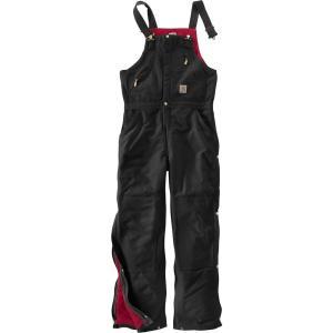 カーハート Carhartt メンズ オーバーオール ボトムス・パンツ zip-to-waist quilt lined duck bibs Black|fermart2-store