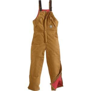 カーハート Carhartt メンズ オーバーオール ボトムス・パンツ zip-to-waist quilt lined duck bibs Carhartt Brown|fermart2-store