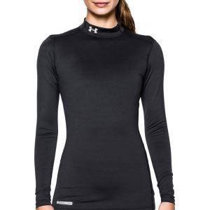 アンダーアーマー レディース トップス Tシャツ Under Armour Fitted ColdGear Mockneck Shirt|fermart2-store