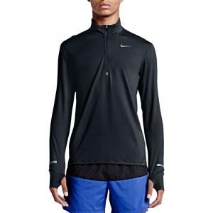 ナイキ メンズ トップス ランニング・ウォーキング Nike Dri-FIT Half-Zip Running Shirt Black|fermart2-store