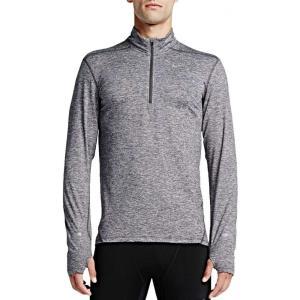 ナイキ メンズ トップス ランニング・ウォーキング Nike Dri-FIT Half-Zip Running Shirt Dk Grey Heather|fermart2-store