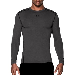 アンダーアーマー メンズ トップス フィットネス・トレーニング Under Armour ColdGear Armour Compression Crewneck Long Sleeve Shirt Carbon Heather/Black|fermart2-store