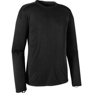 パタゴニア メンズ インナー・下着 Patagonia Capilene Midweight Crew Long Sleeve Shirt Black fermart2-store